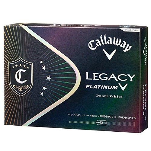Callaway(キャロウェイ) 2015 LEGACY PLATINUM ボール 1ダース(12個入り) パールホワイト 日本仕様 64203511200117