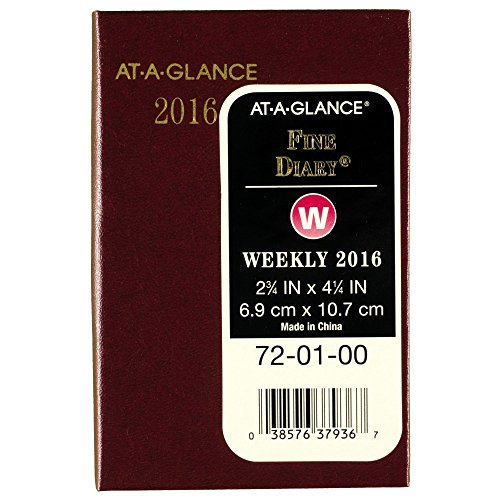 AT-A-GLANCE Weekly / Monthly Pocket Diary 2016, 12 Months, 2.75 x 4.25 Inch Page Size, Compact (720100)