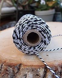 Quasimoon Black Bakers Twine Decorative Craft String (110 Yards) by PaperLanternStore