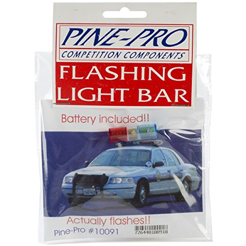 Pinepro Pine Car Derby Flashing Light Bar With Battery
