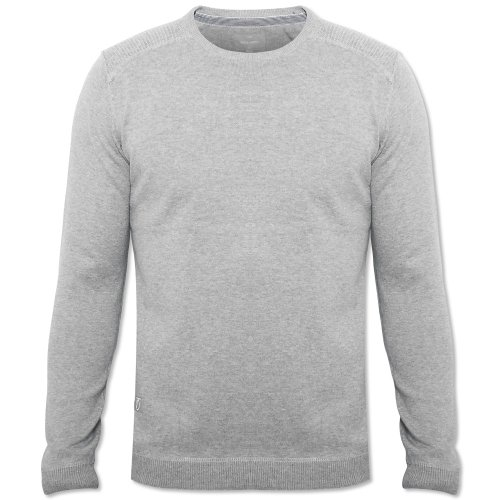Peter Werth Mens Grey P1Z00068 Long Sleeve Crew Neck Jumper Grey Large