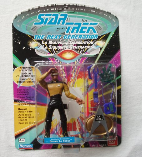 "4½"" Lieutenant Commander Geordi La Forge Action Figure - 1992 Series 1 Star Trek: The Next Generation - 1"