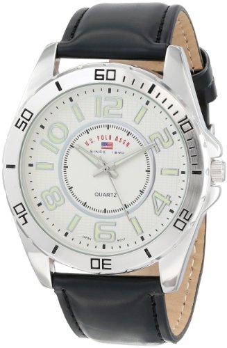 U.S. Polo Assn. Classic Men'S Us5162Exl Silver Dial Extra Long Black Strap Watch