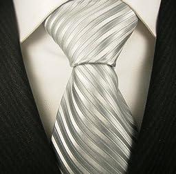 Neckties By Scott Allan - Silver Stripe Mens Tie