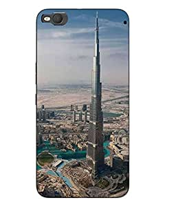 Make My Print Burj khalifa Printed Multicolor Hard Back Cover For HTC One X9 Smartphon