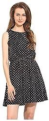 IRAM SHOPPING STORE Women's Regular Fit Dress (IR-DR00IRSS102, Black, Medium)