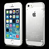 Generic Luminous Glow TPU Edges & Crystal PC Back Case For IPhone 5 5s - White