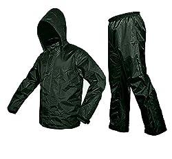 ZAVIA-Premium Plain Unisex Rain Coat-Green