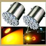 #9: Delhitraderss 4Pcs - 22 SMD LED Bike Amber Indicator Light Bulb Lamp for - Hyundai Santro Old