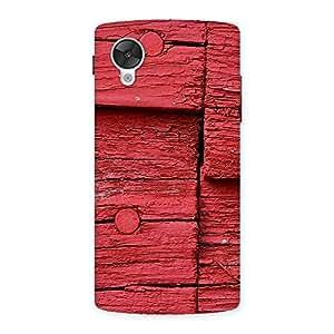 Red Kil Wood Back Case Cover for Google Nexsus 5