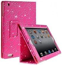Comprar Funda Abatible de Cuero Rosa con Brillantina para Apple iPad Gen. 2 3 4. con Protector de Pantalla y Stylus