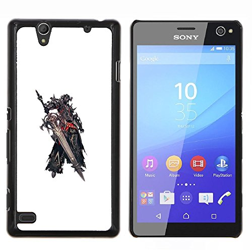klongshop-snap-on-hard-back-shell-rubber-case-protection-skin-cover-mighty-sony-xperia-c4-