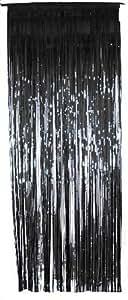 Black Metallic Shimmer Curtain 3ft x 8ft - Single