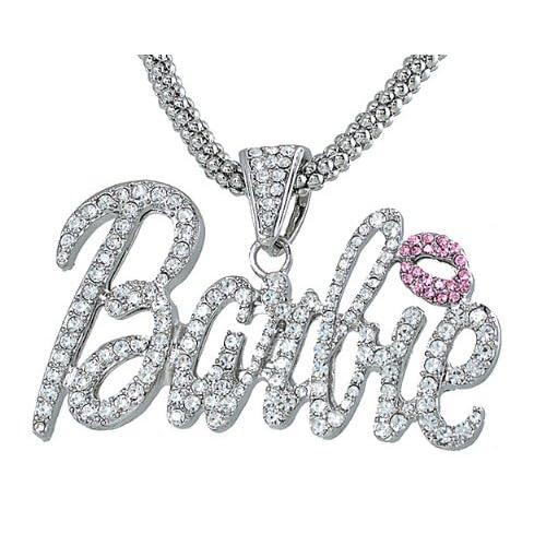 NICKI MINAJ BARBIE Pendant 18 Chain & Ring Set Gold Multi
