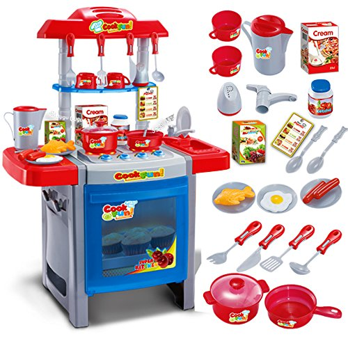 Children Large Kitchen Toy House Simulation Boy Girl Cooking Cook Baby Tableware Kitchen For Kids education (Lil Tikes Table compare prices)