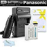 Battery And Charger Kit For Panasonic Lumix DMC-ZS50K, DMC-ZS45K, DMC-ZS40K, DMC-ZS35K, DMC-LZ40k, DMC-ZS60K, DMC-ZS100K Digital Camera Includes Replacement DMW-BCM13E Battery + Ac/Dc Charger + More
