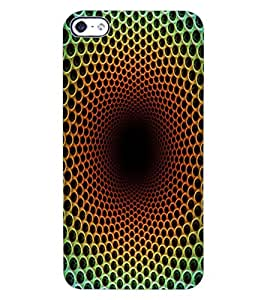 ColourCraft Colour Abstract Design Back Case Cover for APPLE IPHONE 4S
