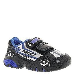 Stride Rite Vroomz Light-Up Police Car Running Shoe (Toddler/Little Kid),Black/Silver,11 M US Little Kid