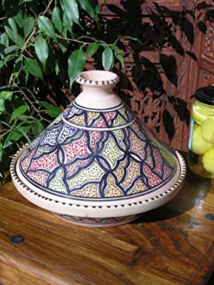 Medium Patterned Cooking Tagine In Black from Maroque
