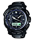 Casio PRW5100YT-1 Men's Pathfinder Triple Sensor Black IP Titanium Atomic Digital Watch