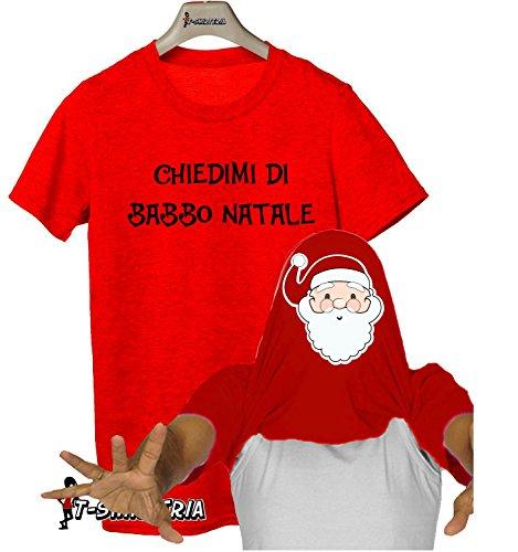 Tshirt con effetto sorpresa - CHIEDIMI DEL MIO COSTUME DI BABBO NATALE - Tutte le taglie by tshirteria