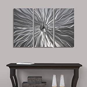 All Natural Silver Etched Modern Wall Art