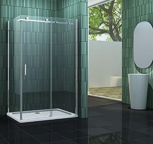 cabine de douche tela 100 x 80 cm sans bac bricolage. Black Bedroom Furniture Sets. Home Design Ideas