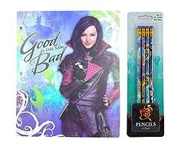 Disney Descendants Back to School Folder and Pencils Bundle (5 Pieces)