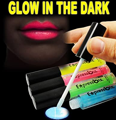 Cheapest Glow In The Dark Lip Gloss 4-Piece Set AL#GG10911 from BeWild - Free Shipping Available
