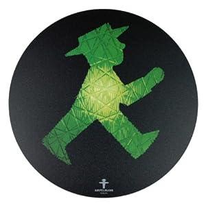 Ampelmann – Mousepad Rollfeld Geher 21 cm, schwarz 101100010