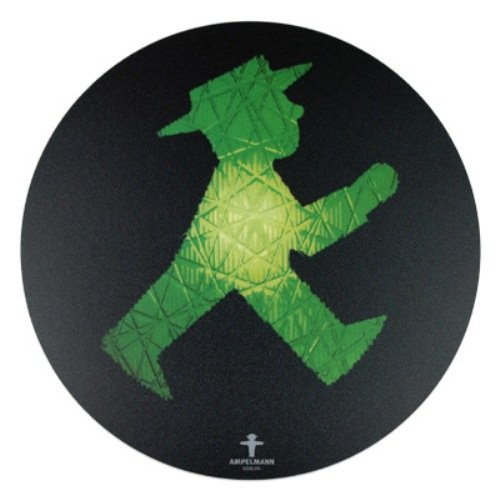 Ampelmann 101100010 - Mousepad Rollfeld Geher 21 cm, schwarz