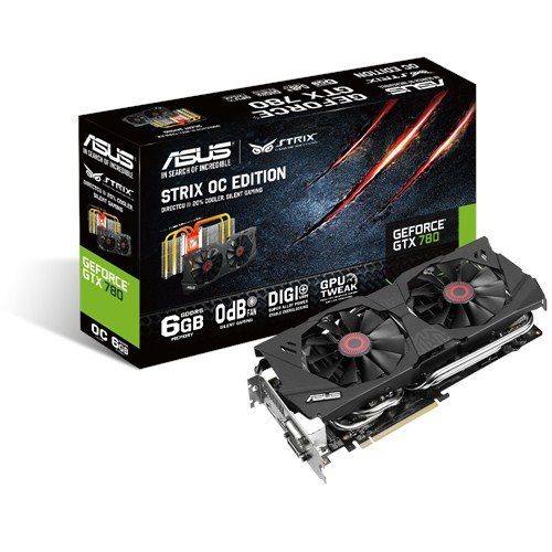 ASUSTek社製 GeForce GTX780搭載 ビデオカード (オーバークロックタイプ) STRIX-GTX780-OC-6GD5