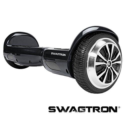 SWAGTRON T1 - UL 2272 Certified Hoverboard - Electric Self-Balancing Scooter Black (Dirt Board Wheels compare prices)