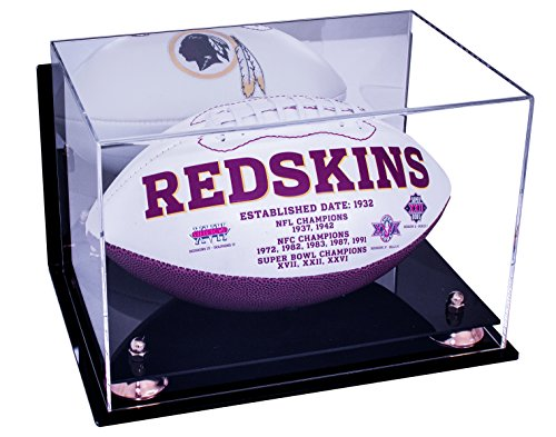Football Wall Mount or Table or Shelf Display Case with Mirror (Clear Display Case Wall Mount compare prices)