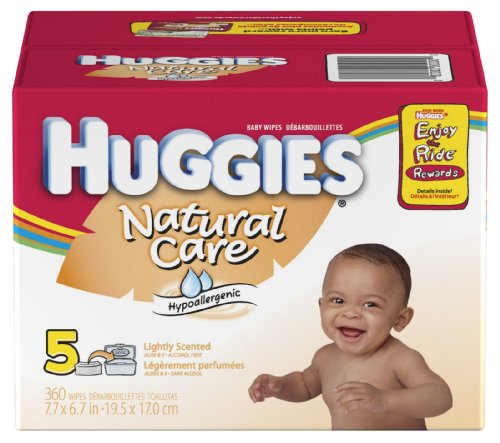 Huggies Natural Care Lightly Scented Baby Wipes - 360 Count Refill - 1