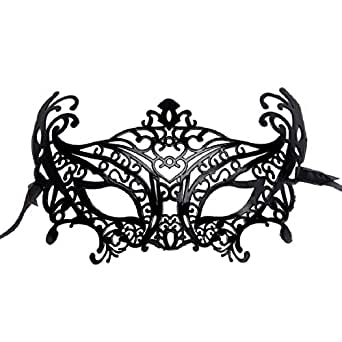 Doinshop Halloween Costume Masks Plastic Fancy Eye Mask for Masquerade Party
