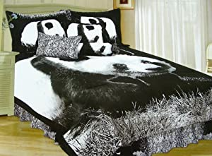 Panda Bear Design Comforters Queen Size
