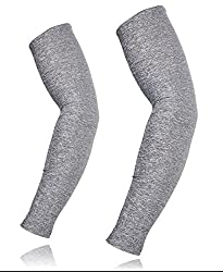 JERN Bikers/Cyclist Long Arm UV Protection Sleeve (M, Grey)