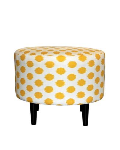 Sole Designs Sophia Jojo Round Ottoman, Yellow