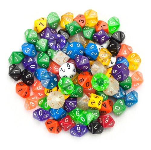 Best Review Of 100+ Pack of Random D10 Polyhedral Dice in Multiple Colors By Wiz Dice