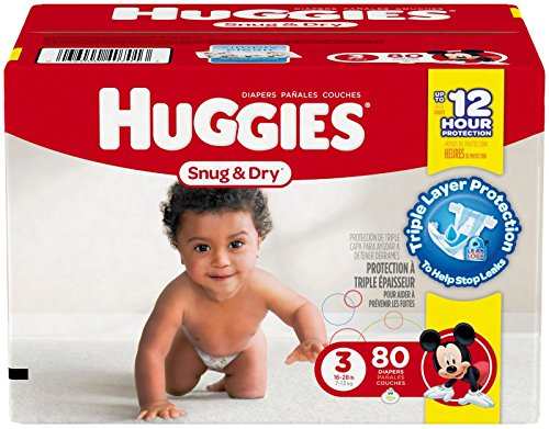 Huggies Snug and Dry Diapers - Size 3 - 80 ct (Huggies Size 3 Diapers compare prices)