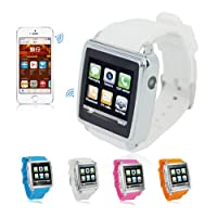 PGD Mobile Phone Watch + Bluetooth Smartwatch Sync For Smartphone MP4 Camera (white) by China OEM