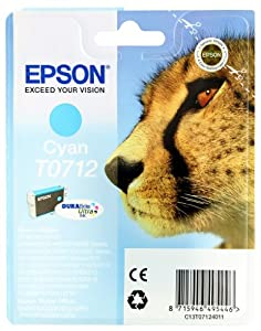 Epson T0712 Tintenpatrone Gepard, Singlepack, cyan