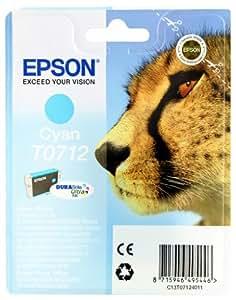 Epson T0712 Cartouche d'encre d'origine DURABrite Ultra cyan pour D78 D92 DX4050 4450 5050 6050 7000F