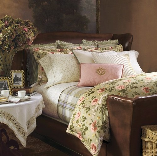 Ralph Lauren Yorkshire Rose 3-pc KING Comforter Set -- King Comforter & Two King Floral Shams