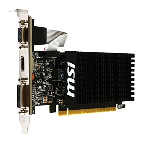 MSI NVIDIA GeForce GT710搭載 GDDR3 2GB グラフィックスボード VD5931 GT710 2GD3H LP