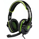 SuperStore_Electronics(TM) SADES SA-708 3.5mm Stereo Headset Headphones Gaming Headset Stereo Headset Headband Sa-708 Pro Game Earphone Bass Headphones with Microphone for Pc Laptop Mobile (Green)