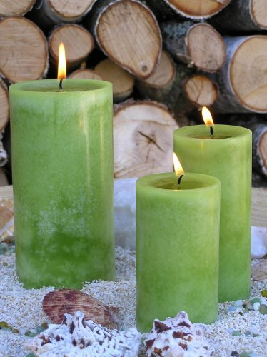Stera Candles 17807.24176 'Rustic Cloud' 4-pack of high quality hand cast pillar candles, height 10 cm; Ø 7.5 cm; colour biscuit