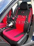 Ford Ranger / Maverick Universal Car Seat Covers VRX Full Set (Red)