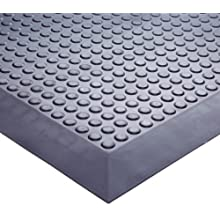Ergomat Nitrile Rubber Anti-Fatigue Mat, for Areas with Trolleys and Carts, Black